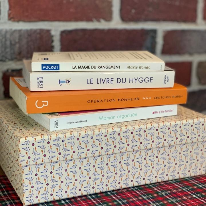 Mes lectures pour m'organiser et vivre heureuse auquotidien